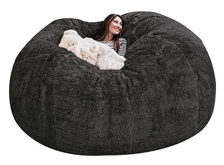 jidan Durable Comfortable Bean Bag Chair PV Fur Bean...