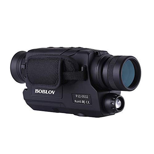 BOBLOV Monocular de Visión Nocturna Infrarrojos 5x32 Alcance Óptico Digital Telescopios Monoculares con 16 GB Tarjeta