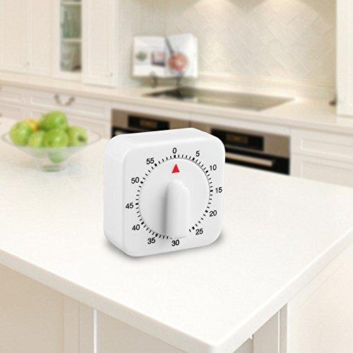 1 temporizador de cocina de 60 minutos con cuenta regresiva y temporizador de cocina cuenta regresiva, reloj despertador.