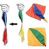 Nigoz - Bufanda de seda para trucos mágicos y accesorios para juguetes, color al azar, cómoda y ecológica, práctica y rentable