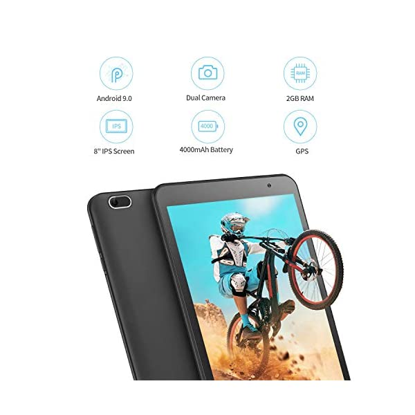 VANKYO MatrixPad S8 Tablet, Android 9.0 Pie Tablet 8 inch, 1280x800 IPS Display, 32GB ROM, 2GB RAM, 5MP Rear Camera, Wi-Fi, GPS, BT4.2, FM, OTG, GMS-Certified 4