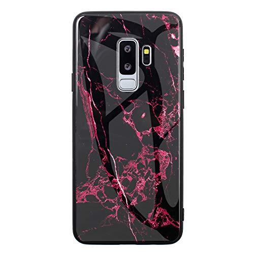 2Buyshop Carcasa para Móvil Compatible con Samsung Galaxy S9 Plus Funda marmol Negro Silicona Flexible Bumper Teléfono Caso paraSamsung Galaxy S9 Plus Marble Black