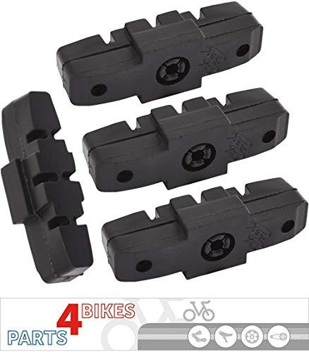 P4B Hydraulik Power-Pads für Magura, schwarz, 2 Paar = 4 Stück