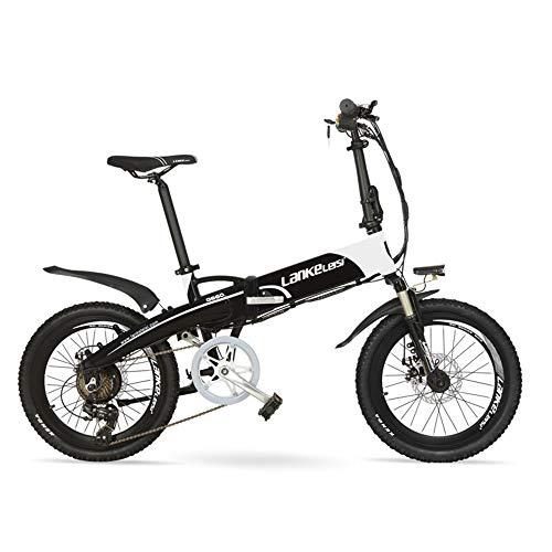 LANG TU 20'' Pedal Assist Bicicleta Eléctrica Plegable, batería de ión de Litio incorporada de 48V 10Ah/14.5Ah, Motor Potente Fuerte...