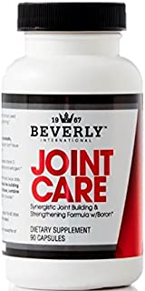 Beverly International Joint Care, 90 Capsules. Providing Athletes with Relief of Stiff, achy Joints Since 2001. 3-Stage Collagen-Building Formula with glucosamine, chondroitin, MSM, hyaluronic Acid.