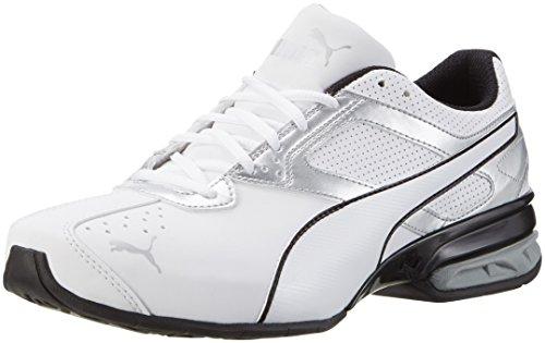 Puma Herren Tazon 6 FM Laufschuhe, Weiß White Silver Black 01, 48.5 EU