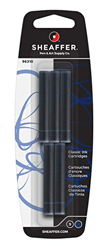Sheaffer Tintenpatronen Skrip Classic (für Sheaffer Füller, nicht löschbar) 5 Stück,  blau-schwarz