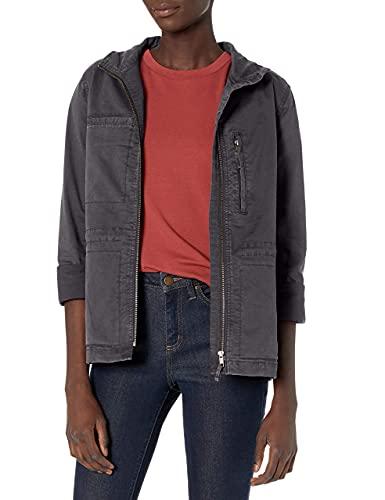 Amazon Brand - Daily Ritual Women's Military Cargo Jacket, dark grey, 8