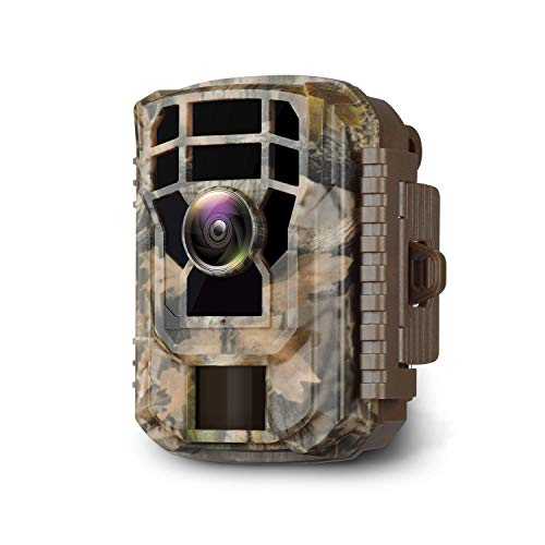 "Campark 【2020 upgrade】 Mini Wildlife Camera 16MP 1080P HD Trail Game Camera Waterproof Scouting Cam with 120° Wide Angle Lens and Night Vision 2.0"" LCD IR LEDs"