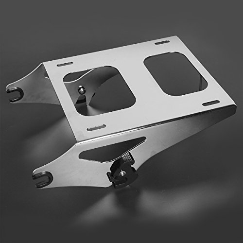 XFMT Motorcycles Chrome Tour Pack 2-UP Luggage Rack Mount fits Compatible with Harley Touring FLHR FLHT FLHX FLTR 2014-2020