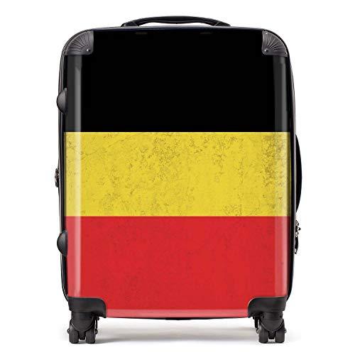 België vlag West-Europese vlaggen koffer met TSA-blokkering 4 spinner wielen grote uitbreidbare bagage 78 cm 95 liter