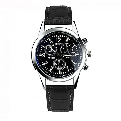 Cuitan Moda de Lujo Reloj de Cuero Reloj de Cuero Muñeca de Cuarzo Reloj de Negocios Simple y Elegante Reloj de Pulsera Reloj de Cristal para Hombres