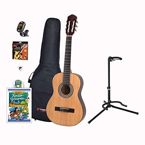 Voggenreiter Kindergitarren-Set, 7-tlg, Gitarre 1/2, Volt Gitarrenständer GS-100, Kinder Akustikgitarre