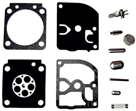 Carb Carburetor Repair Rebuild Kit Replaces Zama RB-66 & RB66 Compatible with Stihl 017 018 MS170 MS180 BG75 FC55 FC75 FC85 FS46 FS55 FS75 FS80 FS85 FS4137 HL45 HL75 HS75 HS80 HS85 HT70 HT75 Chainsaw