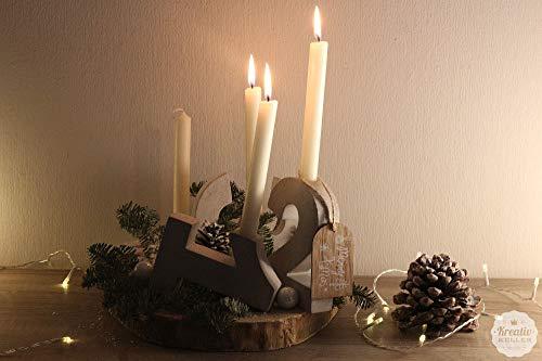 Beton Zahlen Adventskranz 1-4   Advent   Weihnachten   Tischdeko