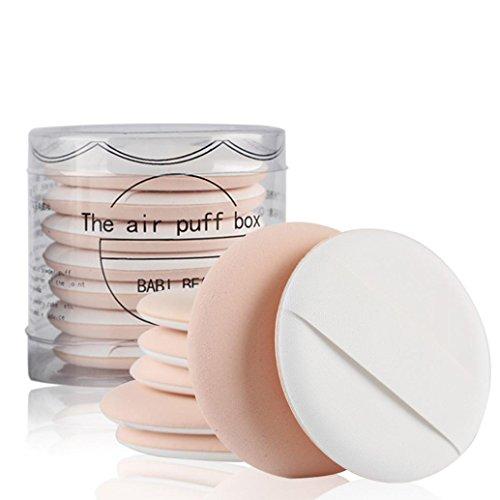Tefamore 7pcs /set Hautfarbe Schminkschwamm Make-up Puff Schwämmchen Puderquaste Pads...