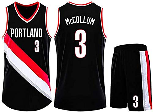 BFDC McCollum Pelican Nr. 3 Basketballuniformanzug, Basketballkleidung für Jungen und Mädchen + Sommershorts, atmungsaktives und schnell trocknendes Basketballtrikot-A-2XS