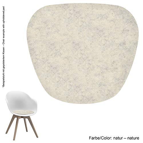 Feltd. Eco Filz Auflage 4mm Simple - geeignet für Boconcept Adelaide mit und ohne Armlehne - 29 Farben inkl. Antirutschunterlage (Natur)