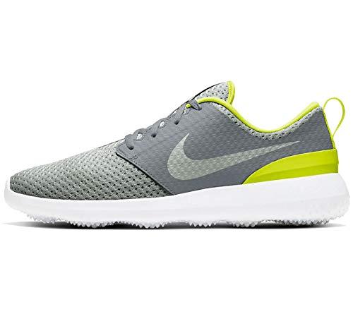 Nike Golf - Roshe Zapatos sin clavos, gris (Gris ahumado/Gris Niebla-blanco-limón Venom), 44 EU
