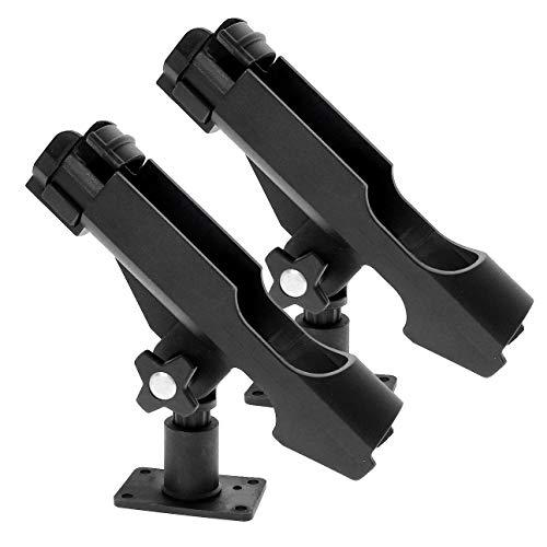 Croch Rutenhalter für Boot Kajak - 2 x Angelrutenhalter Stabil 360 Grad Drehbar und einfach stellbar