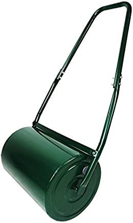 Oypla Galvanised Garden Steel Lawn Roller 30 Litre Drum Scraper Bar & Collapsible Handle Create a Lawn Worthy of a Bowls Green