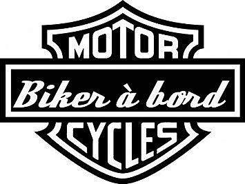 Stickers baby aan boord – baby biker – kleur naar keuze