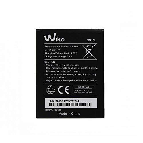 Flexiphone - Batería Wiko Art 3913 (2500 mAh, 9,5 Wh, para Wiko Lenny 4 y Wiko Lenny 4 Plus)