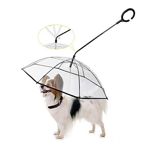 (40% OFF Coupon) Dog Walking Umbrella with Leash for Small Dogs $15.59