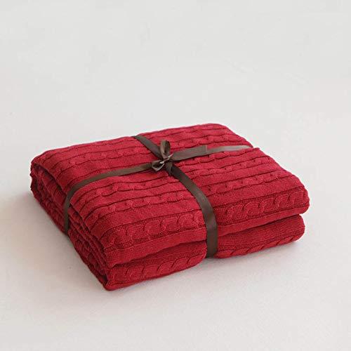 RAQ zomer lente wit rood grijs gebreide deken bank deken kantoor Nap deken handdoek zomer airconditioning dekens voor bedden 180x200cm