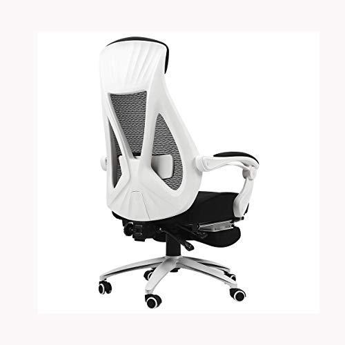 Silla para juegos de computadora, silla para juegos, silla de oficina Boss, sillón reclinable, ergonómico, soporte de malla para cintura, reposabrazos, silla giratoria ajustable, adecuado para hombres
