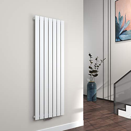 EMKE Vertikal Heizkörper Design Paneelheizkörper 1600x540mm Weiß flach Einreihig Mittelanschluss Heizung 1045W