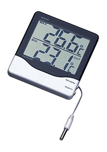 TFA Dostmann Digitales Innen-Außen-Thermometer, 30.1011, großes Display Höchst- und Tiefwerte, Innen- und Außentemperatur