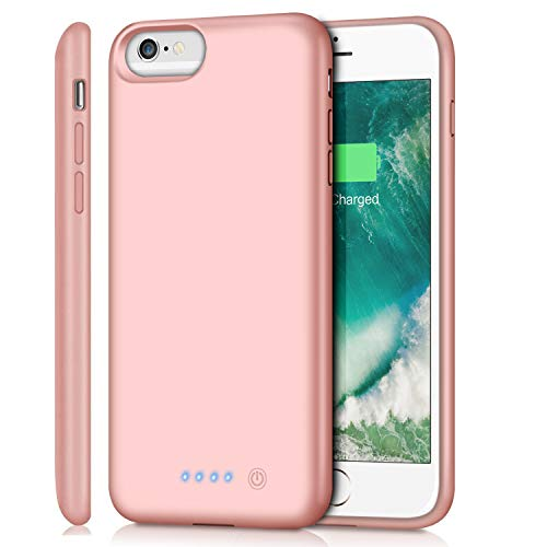 Battery Case for iPhone 6s Plus/6 Plus/7 Plus/8 Plus 8500mAh, Rechargeable Charging Case for iPhone 6Plus Extended Battery Pack Charger Apple 6s Plus Portable Power Bank Cover for 7P 8P (Rose Gold)