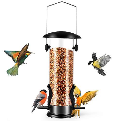 Bird Feeders, All Weather Bird Seed Feeder, Hanging Wild Bird Feeder for Garden Outdoors