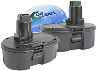 2-Pack DeWalt 18V Battery Replacement - Compatible with DeWalt DC759, DC9096, DW059, DC385, DC390, DC720KA, DW938, DCD940KX, DC925, DC988, DC618, DC608K, DW056, DCD950KX, DC759KA, DC330, DE9098, DW9098, DC9098, DC9099, DW9099 (1300mAh, NICD)