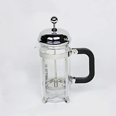 600ml Stainless Glass Tea Cup French Press Coffee Maker Plunger Filter + Spoon