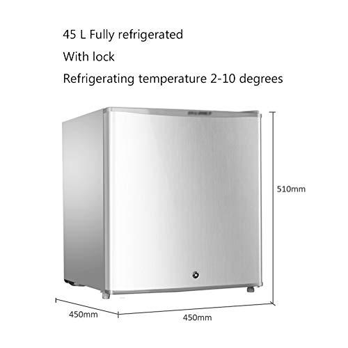 Petit Frigo Congelateur Mini Refrigerateur Frigidaire Petit RéFrigéRateur-CongéLateur à Une Porte Avec Serrure Et RéFrigéRateur à éConomie D'éNergie Silencieuse