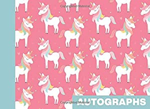Autographs: Blank Unlined Book for Collecting Signatures and Messages | Cute Pastel Unicorn Pattern in Pink