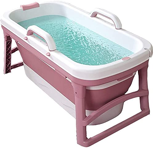 Bañera portátil para la bañera plegable para el hogar para adultos para adultos para niños pequeños, bañera en la ducha, baño caliente, bañera de hidromasaje, drogas dobles, PP y material TPE, 10 kg