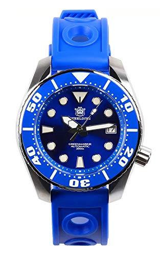 Steeldive SD1971 - Reloj de buceo, Sumo 2020 ver, NH35, AR Sapphire, Lume, azul, 200 m, BNIB