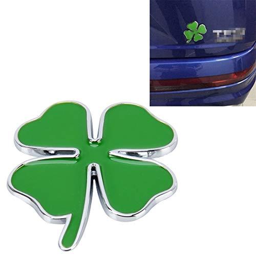 Piezas de automóviles Tablero de instrumentos Decoración LGMIN trébol de cuatro hojas de hierbas suerte símbolo emblema de la insignia Etiqueta Etiquetado Car Styling, tamaño: 4 * 3.3cm La última prod