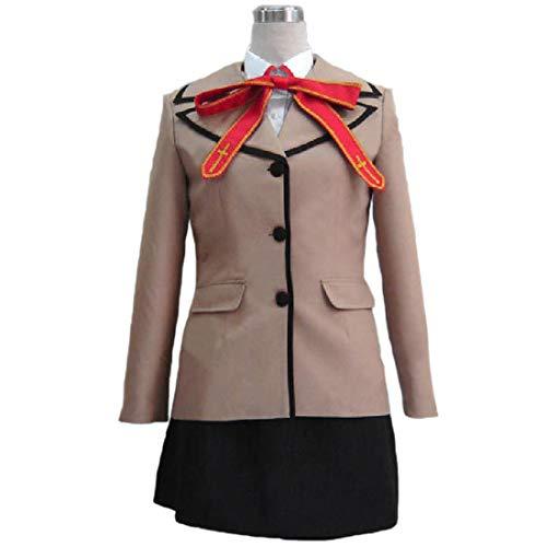 YKJ Anime Cosplay Student Uniform Maskerade-Kostüm-Damen-Jacken-Weste-Hemd Modifizierte Version,Clothing Set-M