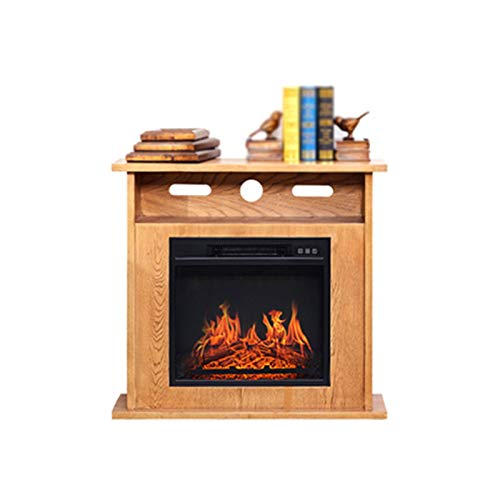 ZXCVBNM Wall Mounted Electric Fire Electric Fire Place, Indoor Heater Log Wood Burning Effect Flame Portable Fireplace Stove Electric Fire Suite Electric Fireplace Suite (Color : Wood Grain Color)