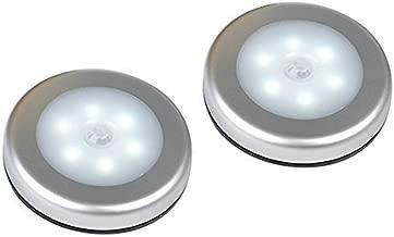 BrightOutlets Battery Powered LED Lights for Indoor Lighting; Closet, Kitchen, Bathroom, Stairs, Hallway, etc- Motion Sensor Stick on Lights for Under Cabinet & Under Counter Lighting (2 Pack)
