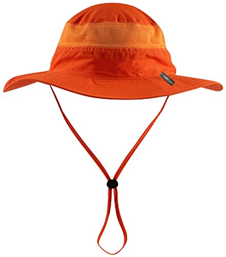 CAMO COLL Outdoor UPF 50+ Boonie Hat Summer Sun Caps (One Size, Bright Orange)