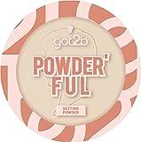 got2b Setting Powder Powder'ful Banana - Polvere opacizzante e fissante, effetto sfumato per ridurre al minimo i pori, 9 g