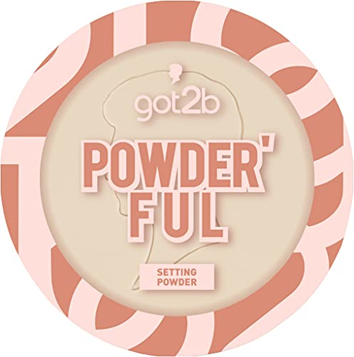 got2b Setting Powder Powder'ful Banana Frosted and Fixation Powder with Softener Effect for Minimised Looking Pores 9 g