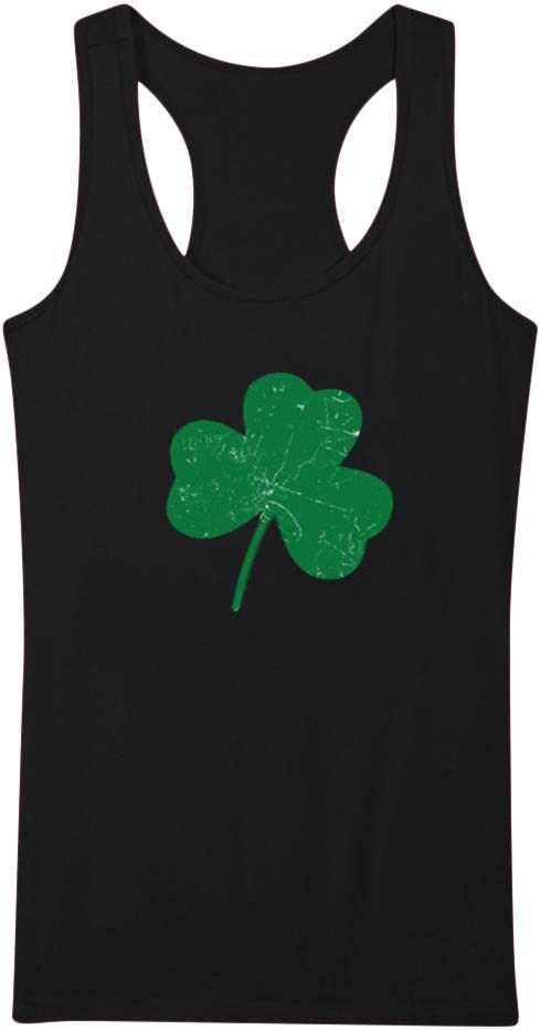 Limited time trial price St. Bombing free shipping Patrick's Day Shamrock Gift Tank Ladies Tops Lo for Strappy