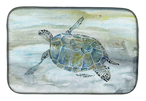 Caroline's Treasures SC2006DDM Sea Turtle Watercolor Dish Drying Mat, 14 x 21', multicolor