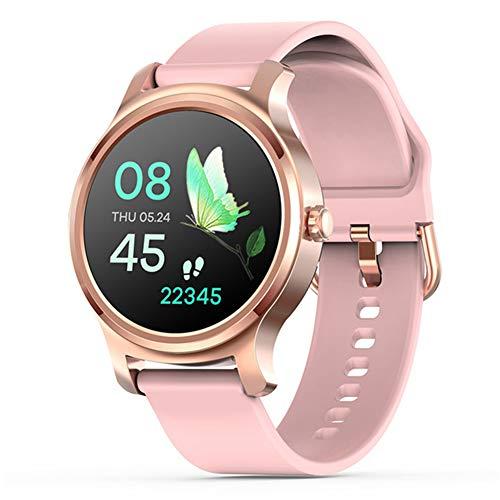 LXZ Reloj Elegante R2 Hombres De Moda 2020 Pantalla Smartwatch Mujeres Bluetooth del Teléfono Inteligente Deportes Aptitud del Reloj Táctil Completa Mujeres Smartwatch para Android iOS,F